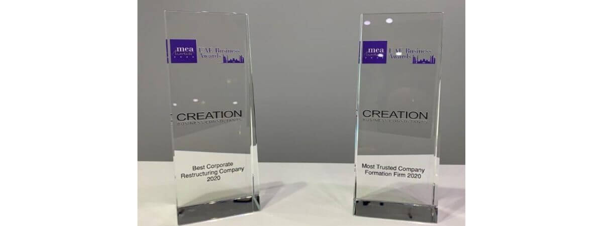 CREATION CELEBRATES TWO AWARD WINS FOR COMPANY FORMATION AND RESTRUCTURING