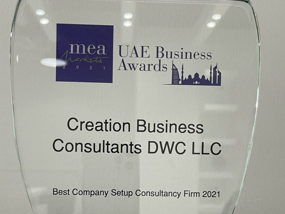 Creation Business Consultants Celebrates Win For Best Company Setup Consultancy Firm 2021